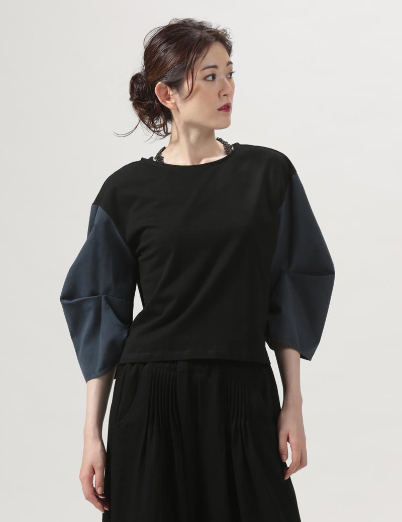 袖デザインカットソー