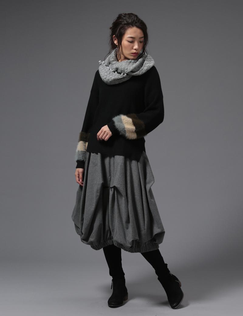 変形バルーンデザインスカート